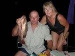 John Wells (Occapussy) with Val Hall and his Red Snapper